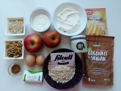 Ovesný dort s karamelizovanými jablíčky a vanilkovou nádivkou (Recept)