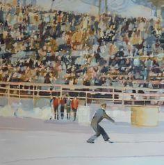 Caroline Yates 'The Judges' Oil on canvas