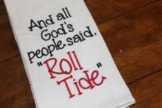 Excited to share this item from my shop: One University of Alabama monogrammed/appliqued kitchen towel/dish cloth-tailgating-shower-hostess gift-Roll Tide--Crimson and White Alabama Football, Crimson Tide Football, Alabama Crimson Tide, Oregon Ducks Football, Notre Dame Football, American Football, Shower Hostess Gifts, First University, Cute Teacher Gifts