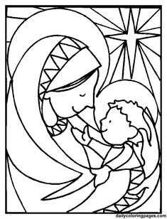 Sweet coloring website  http://dailycoloringpages.com/christmas-coloring-pages/christmas-nativity-scenes-coloring-pages/mary-and-jesus-coloring-pages/