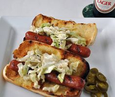 My Carolina Kitchen: Hot Dogs with Grilled Coleslaw – a Food & Wine sta...