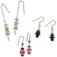 Swarovski(R) Crystal Margarita Earrings -- Ice Cream, Easter Eggs and Christmas Trees