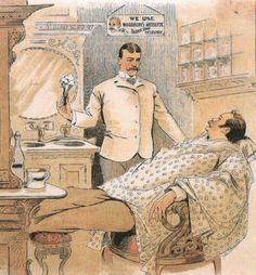 Visit you local Kennedy's Barber Club for a straight-razor shave (very difficult to find these days)