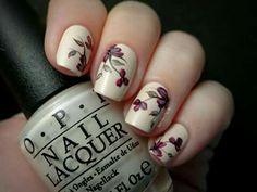 Beige nail flower