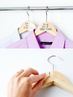 DIY Quote Coat Hanger