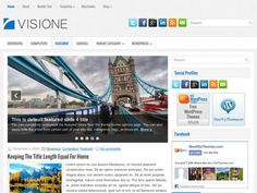 Visione Free WordPress Theme A simple and impressive theme, Visione comes with designated ad spaces, widget areas, and many more customisations. Visione is an amazing General/Blog theme.