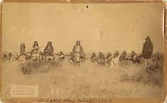 Geronimo (standing in center) and Chief Naiche (standing far right) with their Chiricahua Apache warriors. (Photo by C. Apache Indian, Native Indian, Native Art, Indian Tribes, Native American Tribes, Native American History, Native Americans, Sioux Nation, Navajo