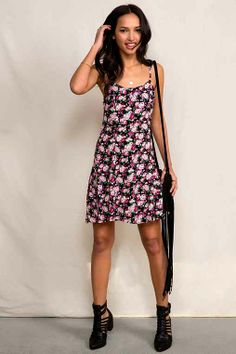 Urban Renewal '90s Strappy Dress - Urban Outfitters
