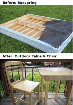 How-To-Repurpose-A-Box-Spring-Into-A-Table-And-Chair