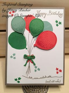 Inspired Stamping by Janey Backer: Happy Birthday Balloon Bouquet, Balloon Punch, Balloon Celebration, birthday, Stampin' Up!