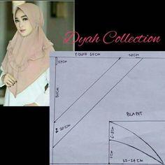Dress Sewing Patterns, Clothing Patterns, Dress Muslim Modern, Abaya Pattern, Kebaya Dress, Turban Hijab, Hijab Fashion Inspiration, Hijab Tutorial, Designer Scarves