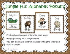 Jungle Fun Alphabet Posters has been added to the 1 - 2 - 3 -Learn Curriculum web site.  Click on picture to subscribe for free downloads or to become a member and access all files on the 1 - 2 - 3 Learn Curriculum web site.