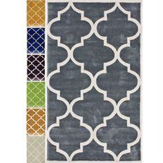 "Handmade Luna Moroccan Trellis Rug (7""6 x 9""6)"
