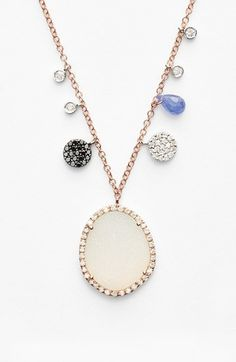 MeiraT Drusy Pendant Necklace available at #Nordstrom