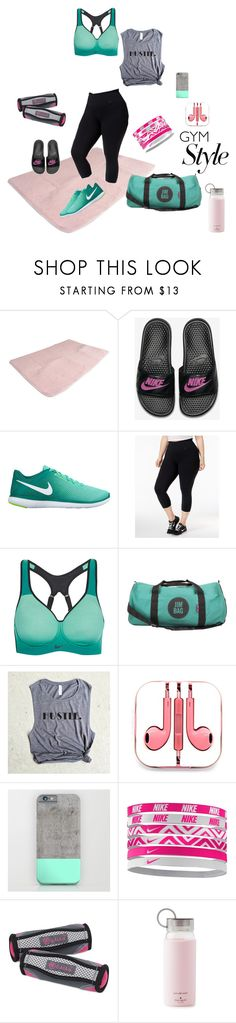 """""""Werk It"""" by stephtadeath on Polyvore featuring NIKE, Jim Bag, PhunkeeTree, Gaiam, Kate Spade and plus size clothing"""