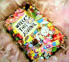 Keri Smith's Wreck This Journal cover by miss--k on flickr