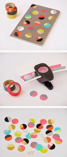 DIY: Washi tape stickers look! more washi tape ideas! Diy Washi Tape Stickers, Washi Tape Cards, Washi Tape Diy, Masking Tape, Washi Tapes, Washi Tape Notebook, Crafts For Teens, Fun Crafts, Simple Crafts