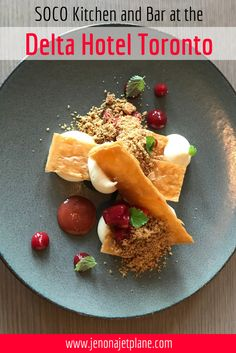 The SOCO Kitchen and Bar is one of Toronto's best hidden gems! Don't miss out on specialities by Chef Keith Pears, a Chopped Champion! Save to your travel board for inspiration. #canada #nom