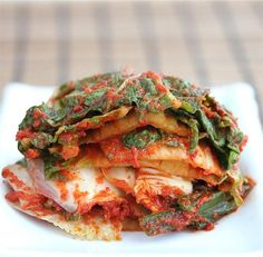 Quick Vegetarian Napa Cabbage Kim Chi