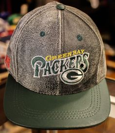 05290b982b8 Green Bay Packers leather snapback hat Deadstock with out tags by…