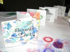 Elements of Art book Create E&P page(s) in sketchbook, with flaps/fold outs? good start of the year activity