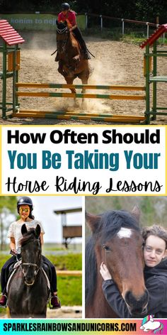 I was a horseback riding instructor for close to a decade. Over the years I have been asked some of the same questions over and over by my students. One question I have been asked frequently is,... Click the link to read the rest of the post!#horseridinglessons #ridinglessons #horsebackridinglessons #ridinglessonfrequency #beginnerequestrian #horseriding #horsebackriding #beginnerhorserider #horsebackridingtips #horseridingtips #learningtoridehorses Horse Braiding, Horseback Riding Lessons, Horse Riding Tips, Learn Faster, A Decade, Dressage, Over The Years, Equestrian, Improve Yourself