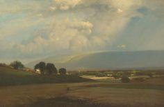 GEORGE INNESS - Uma passagem de nuvem - Óleo sobre tela - 50,8 x 76,2 - 1865