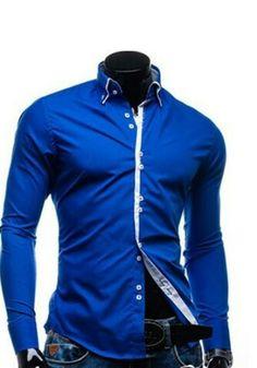 Mode Homme, Bien Habillée, Chemises Habillées Coupe Ajustée, Tenue  Décontractée Pour Homme 5838e28d36e8