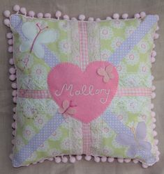 GIRLS UNION JACK Cushion Pillow with persoanlised by tinycherubs