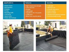 drainage cell 02 Planter Boxes, Planters, Landscape Drainage, Compressive Strength, Recycling, Garden, Window Boxes, Garten, Lawn And Garden