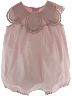 Hiccups Childrens Boutique - Baby Girls Pink Petal Bubble Outfit | Sophie