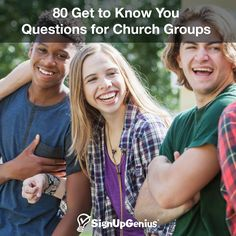 80 Get to Know You Questions for Church Groups. Start conversations with these ideas for youth group, small groups, Sunday School classes and more.