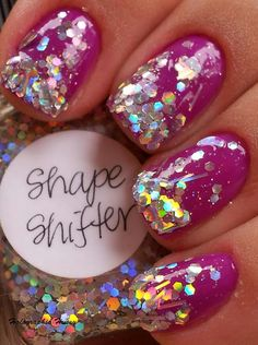 Yummy! Sweet mani from the Holographic Hussy