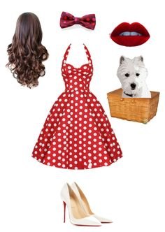 """Dorothy Must Die - Red"" by magicalpickle-101 on Polyvore featuring Christian Louboutin"