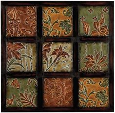 "Multi-Color Metal Wall Decor 32"" square"