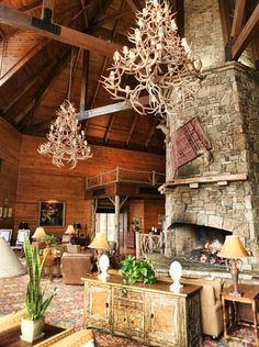 72-feet tall stone #fireplace at Brasstown Valley Resort & Spa in north Georgia.