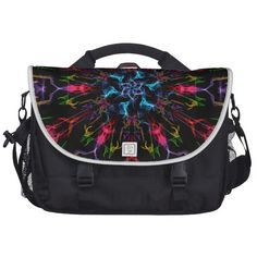 Blue Center Swirl Computer Bag!  #graphic #art #zazzle #store #geek #CG #color #gift #present #kaleidoscope http://www.zazzle.com/fractalsbydww25921*
