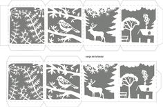Paper Cutting Patterns, Paper Cutting Templates, Fun Diy Crafts, Christmas Crafts, Paper Crafts, Dollar Tree Christmas, Christmas Paper, Cardboard Gingerbread House, Deco Table Noel