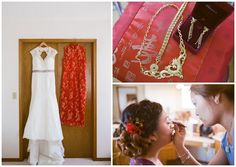 Bride getting ready for a Chinese Wedding Tea Ceremony In Calgary AB. Photos by Crystal Sujata