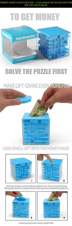 Trekbest Money Maze Puzzle Box - A Fun Unique Way to Give Gifts for Kids and Adults (Blue) #gadgets #plans #cards #shopping #kit #cube #tech #gift #products #parts #camera #fpv #technology #maze #racing #drone #for