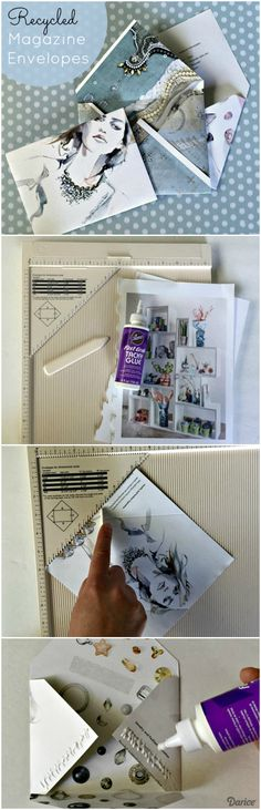 In honor of Earth Day, we are showing you how to make an envelope out of recycled magazine pages. There's no need to throw away those pretty pages anymore!