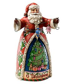 Jim Shore Collection OTannenbaum Santa Figurine