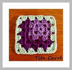 Tita Carré  Agulha e Tricot : Square em 3 D em crochet