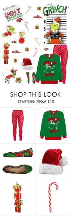 """Don't be the Grinch!"" by smith-1979 ❤ liked on Polyvore featuring Boris, You Khanga and Mikasa"