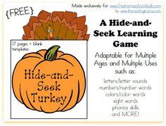 FREE Hide-and-Seek Turkey Game!!