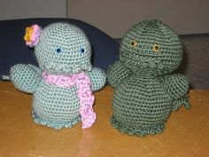 These Cthulhus were the first thing I ever made from a pattern that I designed myself, which is why they have the honour of having the ...