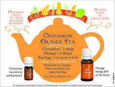 Young Living Essential Oils: Cinnamon Orange Tea  Let's talk essential oils, www.fb.com/essentialliving180  #YoungLivingFoodies