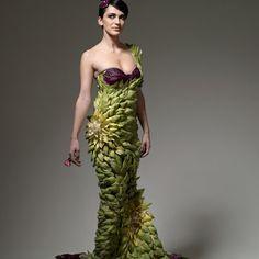 A dress made out of artichoke hearts!