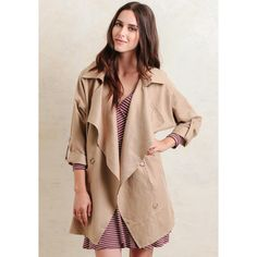 Ruche Along The Thames Draped Jacket In Brown (86 CAD) ❤ liked on Polyvore featuring outerwear, jackets, brown, draped jacket, oversized jacket, brown jacket, open front jacket and ruched jacket