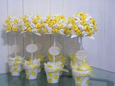 Topiarios Flores Goma Eva - Souvenirs, Centros De Mesa - $ 55,00 ...